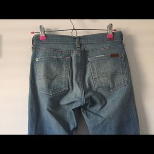 7 For All Mankind Jeans Bootcut 26x33 light wash